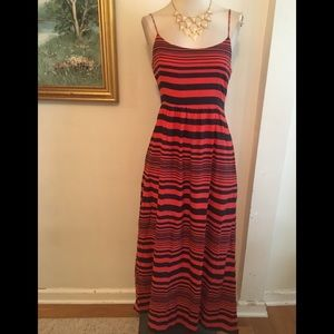 GAP BLUE/ORANGE MAXI DRESS SZ 4